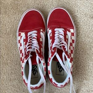 Vans Red Checkered Old Skool Shoes